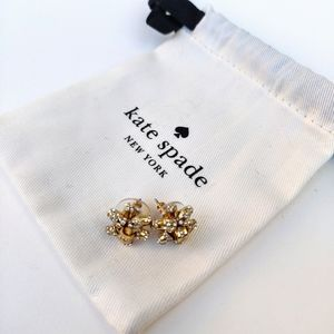 Kate Spade Metal Embellished Bow Earrings